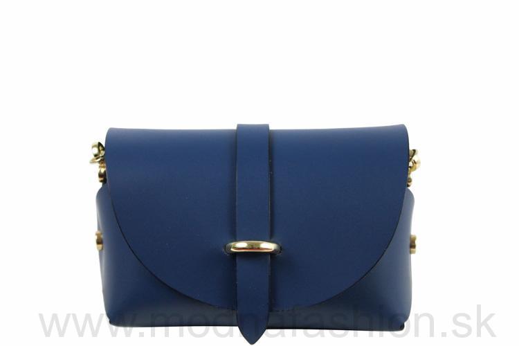 Kožená kabelka 429A modrá 6bcf7110053