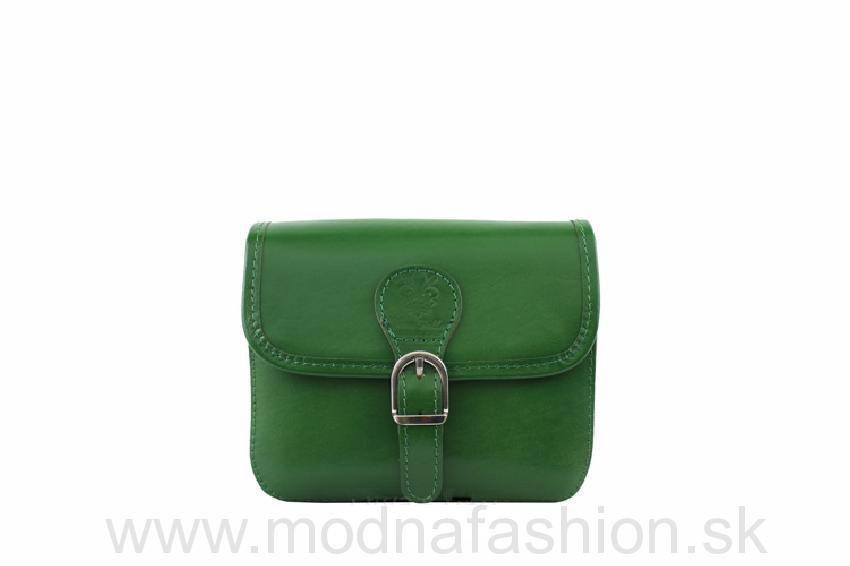 Talianska kožená crossbody kabelka 398 zelená 878c319996d