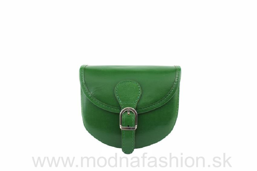 Talianska kožená crossbody kabelka 116B zelená b675faee074