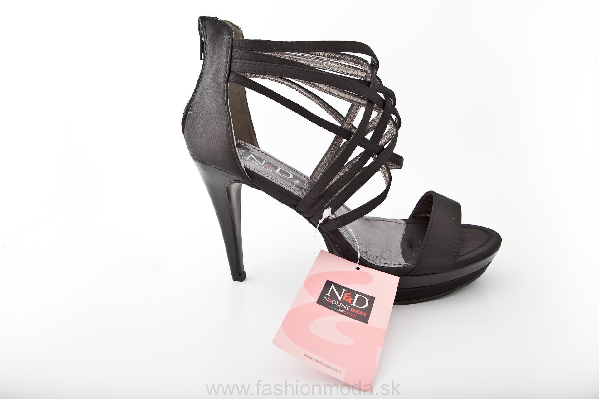5cf6c995f90e Spoločenské sandále na platforme s ramienkami NEDLINE SHOES 329 čierne