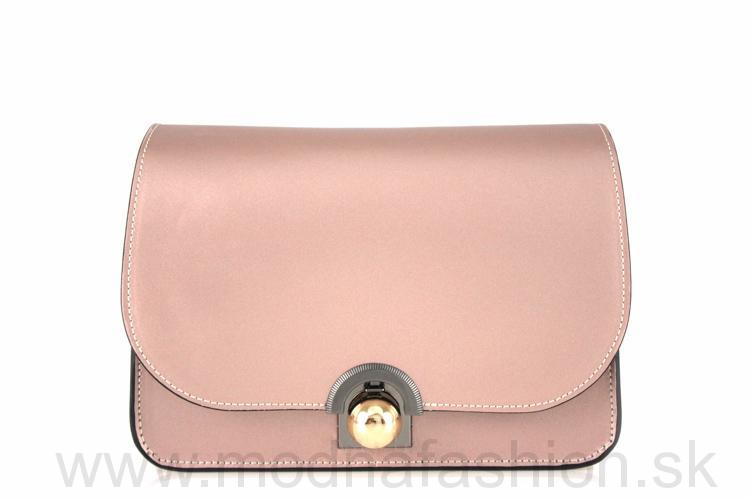 e51d0cccee97 Luxusná talianska kožená kabelka 9666 ružová