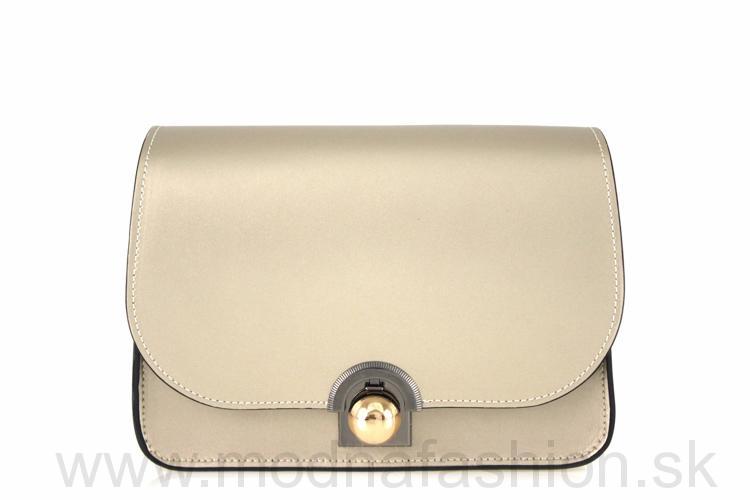 74f088a0ad Luxusná talianska kožená kabelka 9666 zlatá