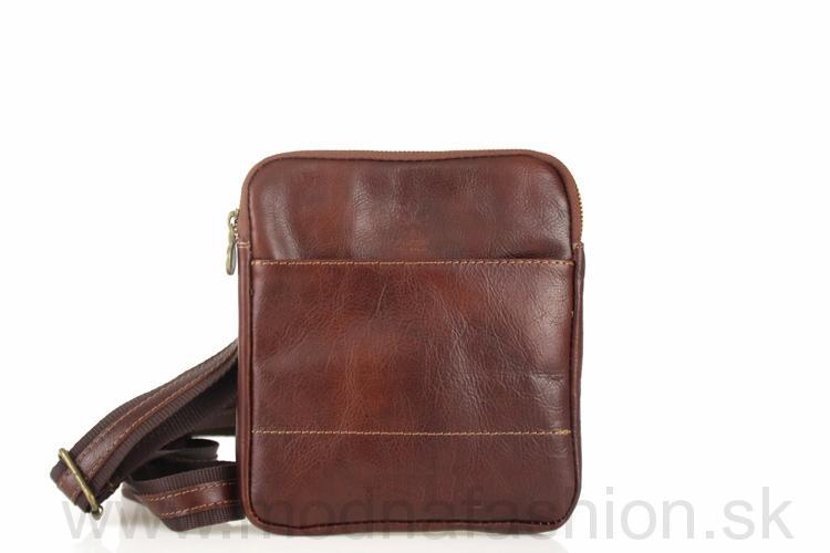 3727aa28d3a9 Talianska pánska kožená taška 383 hnedá