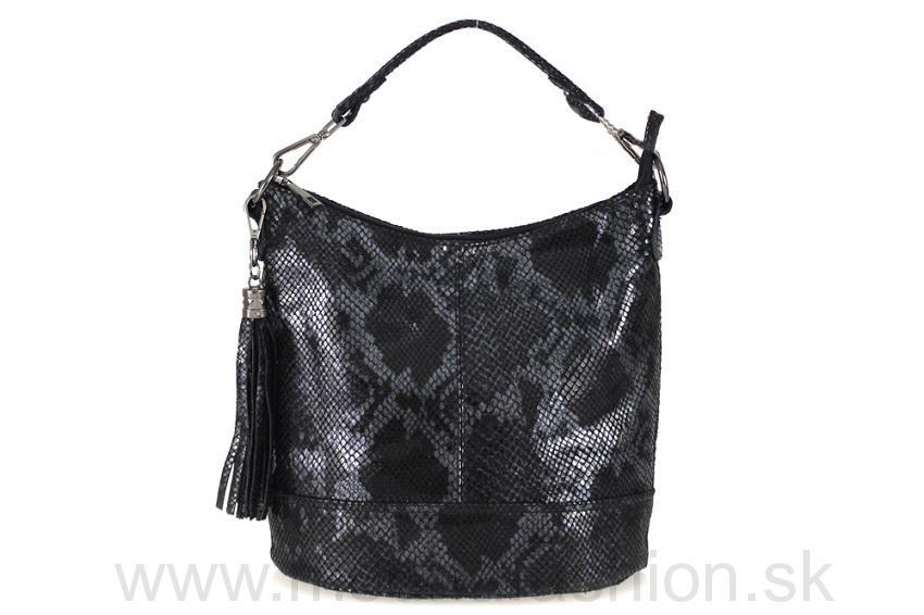 ef181c543c Kožená kabelka do ruky čierna