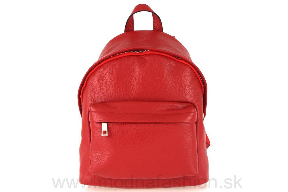 ff2d7b2c0d Kožený batoh červený