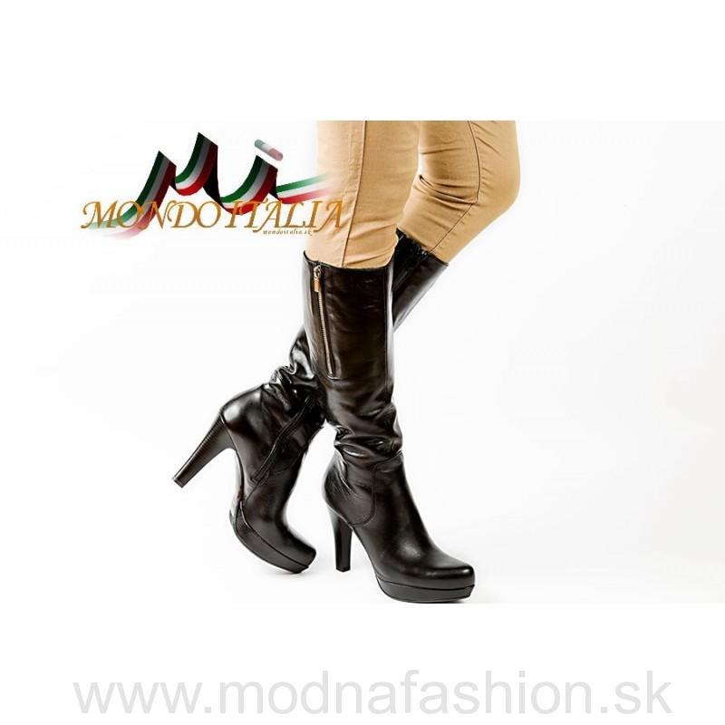 526aae374e47 Módne talianske kožené čižmy čierne