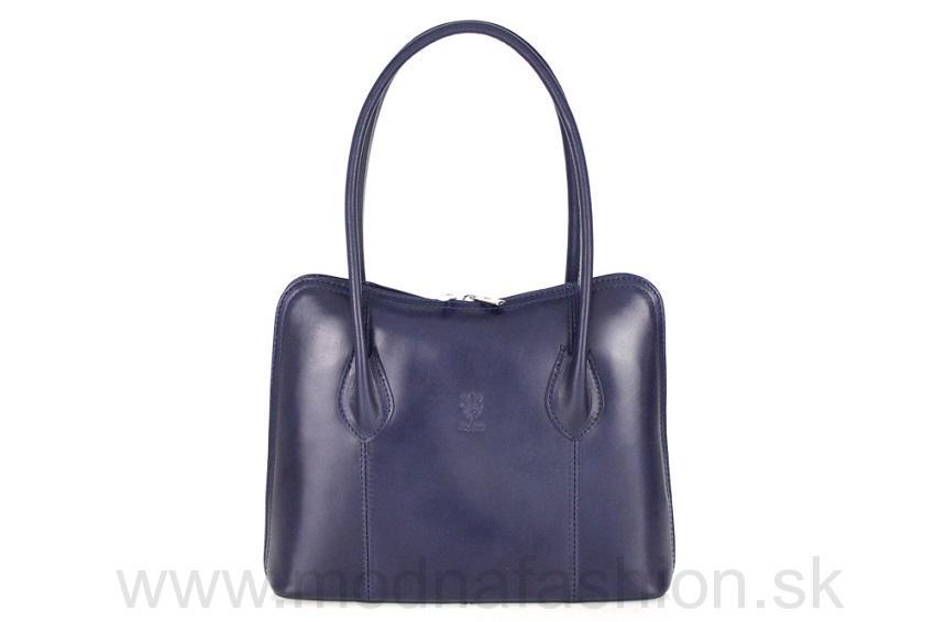 Talianska kožená kabelka 8010 modrá 98f86088c82