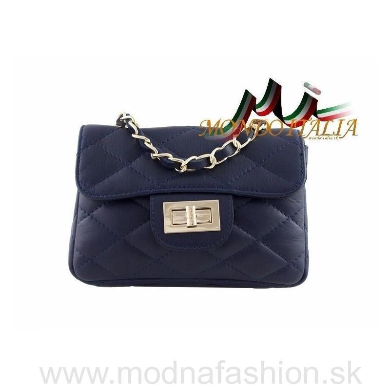 e6a648f5e1 Talianska kožená kabelka 36 modrá