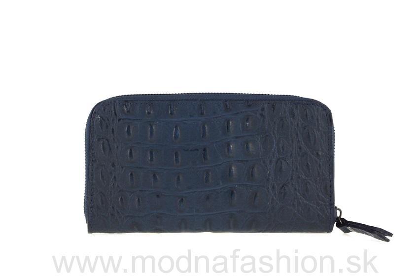27ef429dfb71 Talianska kožená peňaženka modrá