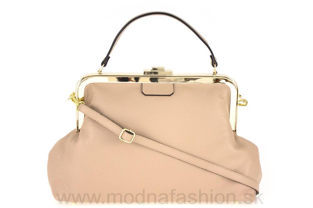 Talianska kožená kabelka do ruky ružová MADE IN ITALY d2dae122cbc