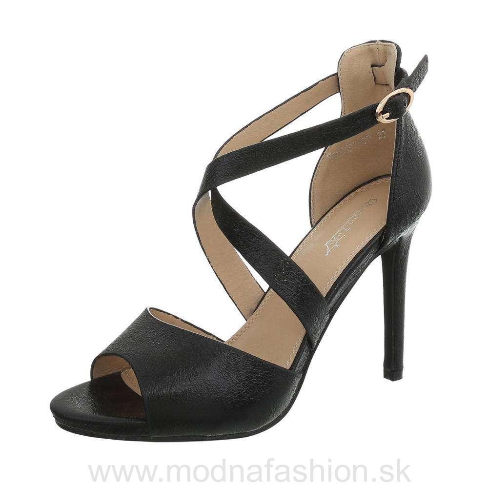 d6a49f7cb825 Elegantné dámske sandále 865 čierne