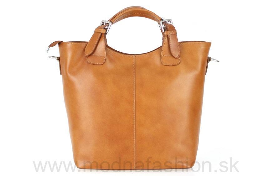 Talianska kožená kabelka 69 koňak 32746c566e6
