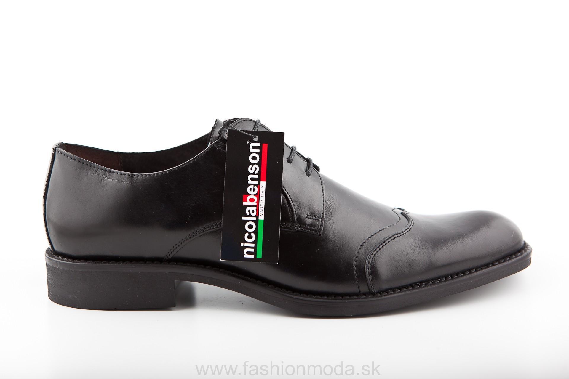 3bfafeb6576f0 PÁNSKA OBUV | Pánska kožená spoločenská obuv 283 čierna NICOLA ...