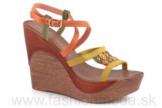 e62526acc73b Talianske kožené sandále ELISA MORELLI žlto-oranžové 935 empty