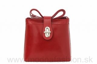 b8142f9182 Dámska kožená kabelka na rameno 118 červená empty