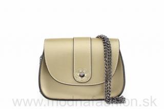e507358e9c Štýlová talianska kožená kabelka na rameno zlatá empty