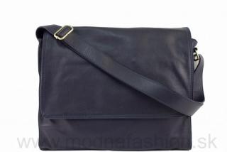 827b5d591e Talianska kožená taška cez rameno tmavomodrá empty