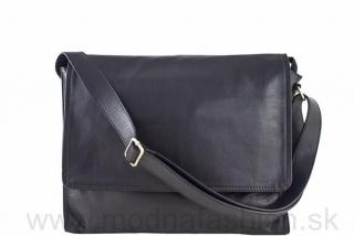 Talianska kožená taška cez rameno čierna empty 71663745f57