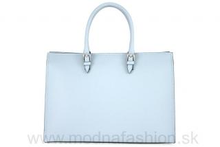 Kožená kabelka na rameno nebesky modrá empty 9fbc66510c6
