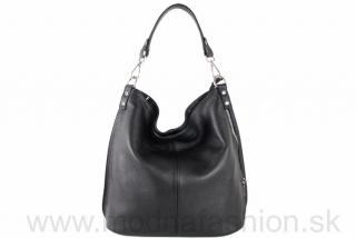 12d1183b4b Kožená kabelka na rameno čierna empty