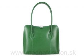 d84ae6dc01 Talianska kožená kabelka 8010 zelená empty