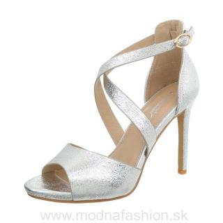 838c48dba1af Elegantné dámske sandále 865 strieborné empty