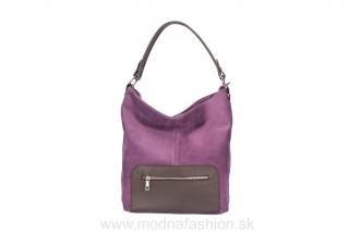 5acafce44a Talianska kožená kabelka na rameno 5075 fialová empty