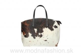 30b8eae4df Talianska kožená kabelka 423 hnedá + béžová MADE IN ITALY empty
