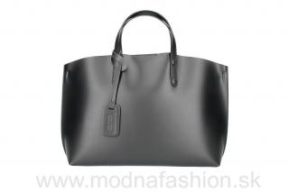Kožená kabelka do ruky čierna empty 5bfc6b606eb