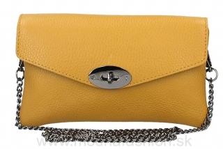Kožená kabelka na rameno okrová MADE IN ITALY empty 4ba67d5cac2