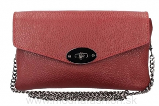 Kožená kabelka na rameno tmavočervená MADE IN ITALY empty 2acf46fc473