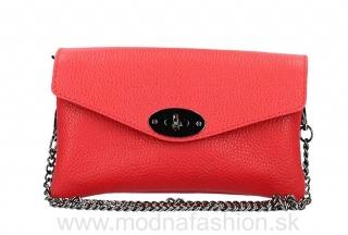 1c7f446744 Kožená kabelka na rameno červená MADE IN ITALY empty