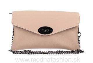 80a5b72180 Kožená kabelka na rameno ružová MADE IN ITALY empty