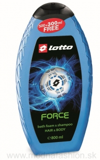 Pena do kúpeľa a šampón LOTTO FORCE 800 ml